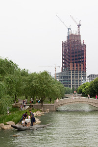 Under construction - one of the two towers of the Gate Of The Orient skyscrapers