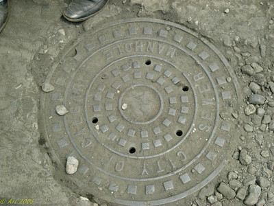 City of Calgary Manhole in China