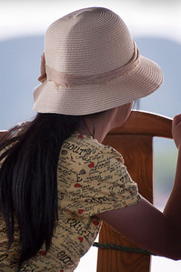 Girl in hat on a summer day.