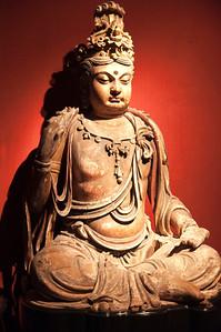 Sitting Buddha in a Shanghai Museum.
