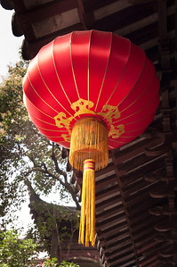 Chinese lantern suspended in time seen in a Garden Pavilion dating back to the Ming Dynasty.