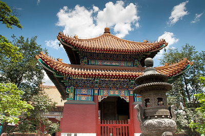 Royal Lama Temple built in 1694 in Beijing, China.