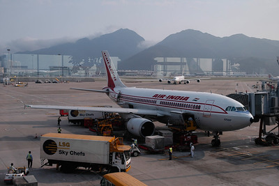 Air India. Flew to Hong Kong International Airport enroute to Beijing, China and Ulaan Baator, Mongolia.  The main airport in Hong Kong. It is colloquially known as Chek Lap Kok Airport because it was built on the island of Chek Lap Kok by land reclamation