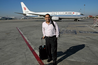 Suchit Nanda taking the Air China flight from Beijing, China to UB, Mongolia
