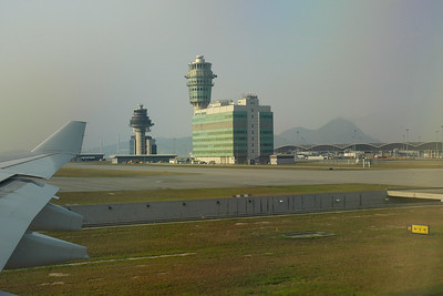 Flew to Hong Kong International Airport enroute to Beijing, China and Ulaan Baator, Mongolia.  The main airport in Hong Kong. It is colloquially known as Chek Lap Kok Airport because it was built on the island of Chek Lap Kok by land reclamation