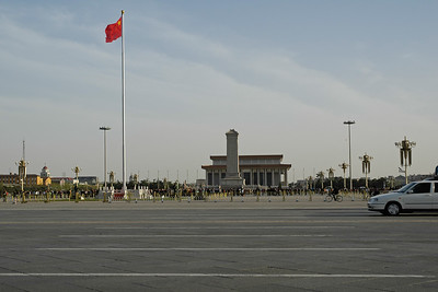 Tiananmen Square, Beijing, China. Tiananmen Square (simplified Chinese: 天安门广场; traditional Chinese: 天安門廣場; pinyin: Tiān'ānmén Guǎngchǎng) is the rather large plaza near the center of Beijing, China and named after the Tiananmen (literally, Gate of Heavenly Peace) which sits to its north, separating it from the Forbidden City. It has great cultural significance as a symbol because it was the site of several key events in Chinese history.