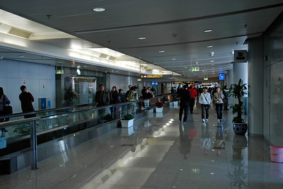 Beijing International Airport, Beijing, China. The airport made a good impression. Neat, clean, efficient.
