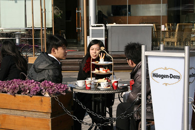 Haagen Dazs in Shanghai takes a new twist  by adding high tea tradition