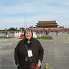 Susan in Tian'an Men Square on a very cold day.