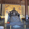The statue of Yongle inside his audience hall.