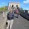 Dick enjoying a walk on the Great Wall.