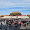 The main audience hall in the Forbidden City.  During Imperial times, this courtyard would be filled with 10,000 functionaries kowtowing and asking for long life for the emperor.
