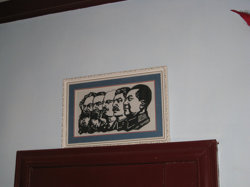 As part of the Hutong tour, we visited the home of someone who lives there.  This is artwork in his house.