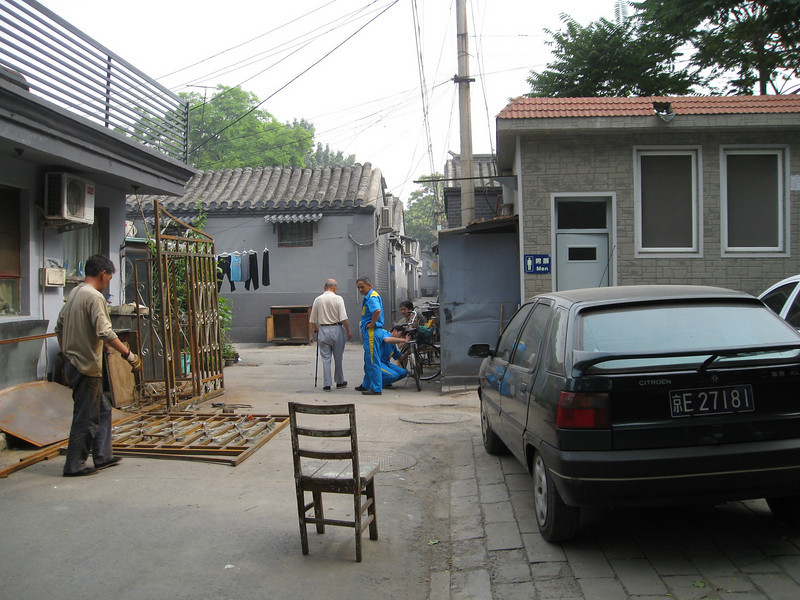 Going into the hutong, which are the old alleys of Beijing