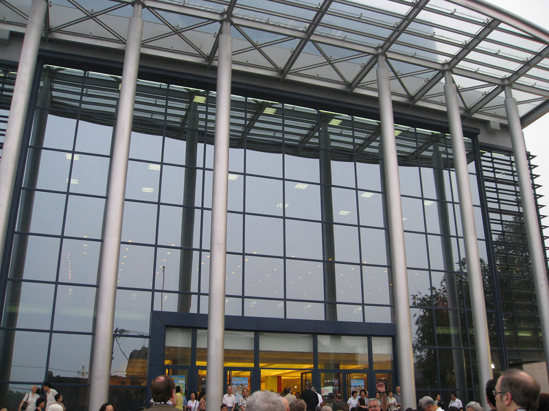 Outside the Beijing Concert Hall, before the big concert