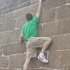 Mike climbing the Great Wall...