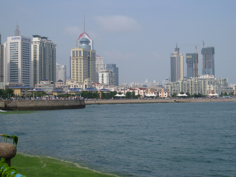 The beautiful city of Qingdao -- we finally saw the sun!