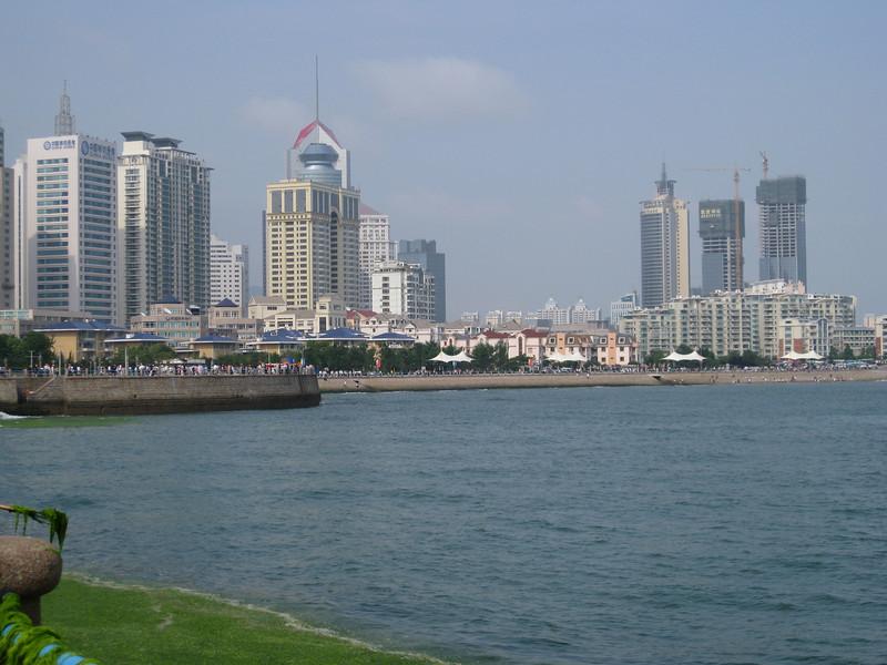 The beautiful city of Qingdao -- we finally saw the sun!