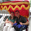 A rickshaw ride through the alleys was also part of the tour