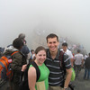 We didn't have much of a view, since we were literally in the clouds....