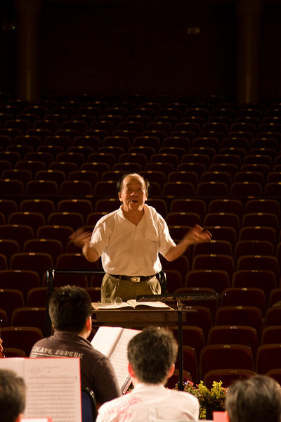 The Qingdao Symphony's director (this was his last concert with them)
