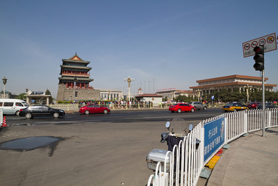 Day 3 - Reaching the Square, we get our first view of Mausoleum of Mao Zedong.