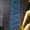 Lots of exterior lighting on the Shanghai buildings