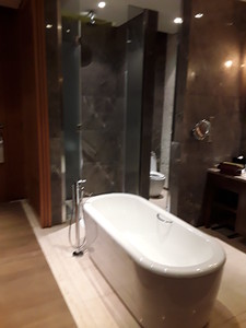 The Sheraton Grand Resort in Hangzhou.  Nothing like a bathtub in the middle of the room.
