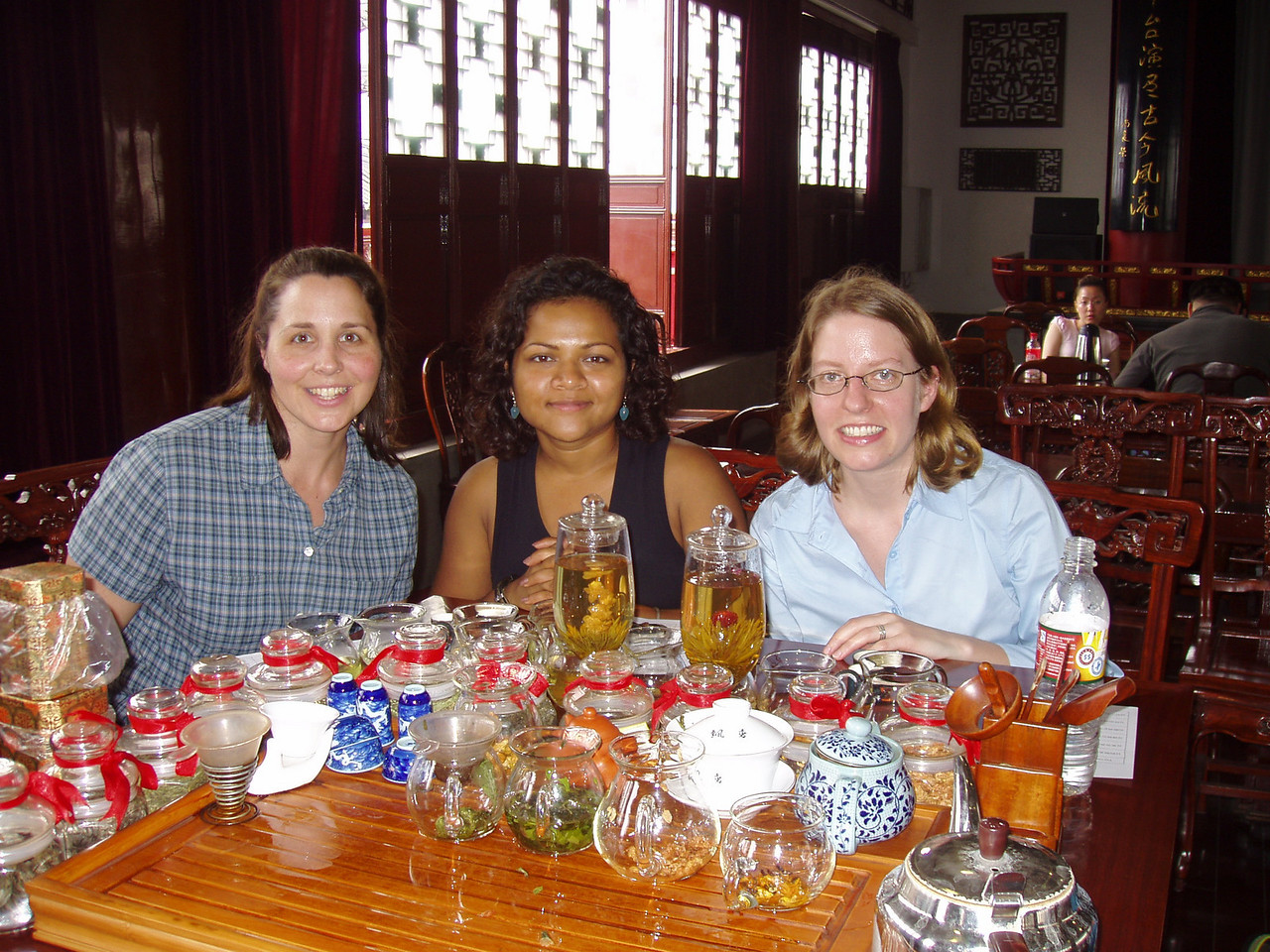 Tea ceremony, Kristie, Mina and Kathy again.<br /> Dana and I got tired of the crowds and ditched...