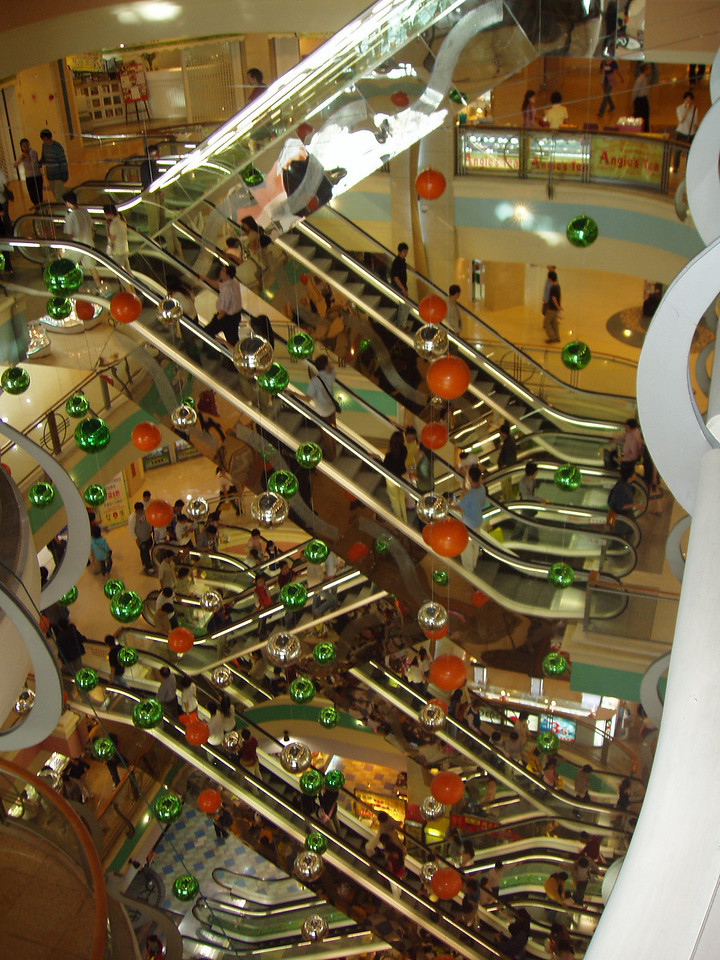 """Yes, those escalators aren't supported in the middle.<br /> Can you say """"No building code"""". I knew you could. And yes, we did use them..."""