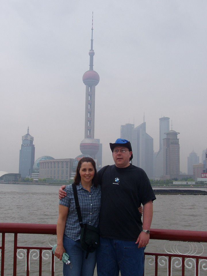 Kristie and I in front of the TV tower.  This was a fun day, although I was wearing way to much clothes.  We were seeing temp swings from 65 to 90+ in a day, and everything from bright sunshine to pouring rain in the space of an hour.
