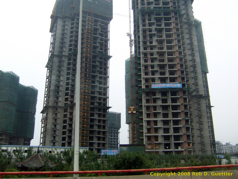 High-rise construction. Chengdu, Sichuan Province, P. R. China. China trip 30 Aug to Sep 07 2008.