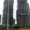 High-rise construction. Chengdu, Sichuan Province, P. R. China. China trip 30 Aug to Sep 07 2008.