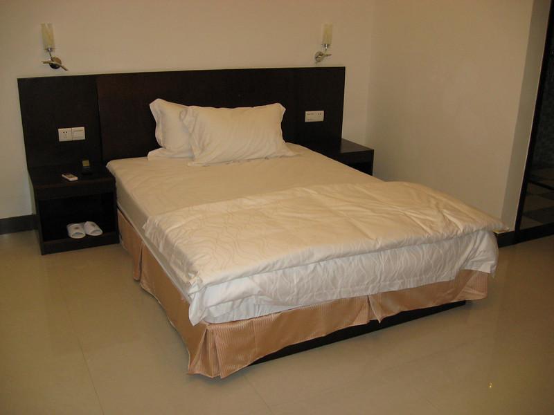 A rock-hard mattress and super soft pillows - quite the combination.