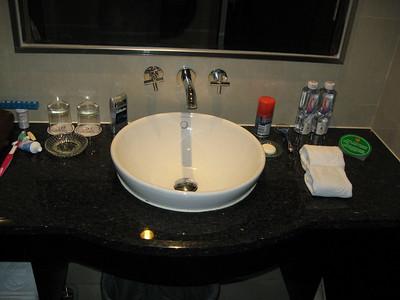 Classy sink.