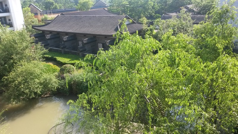 View from room 3327 at the Sheraton Xixi Wetlands Grand Resort in Hangzhou