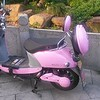 Pretty pink scooter