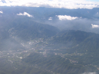 Uni-Air flight south to Taichung