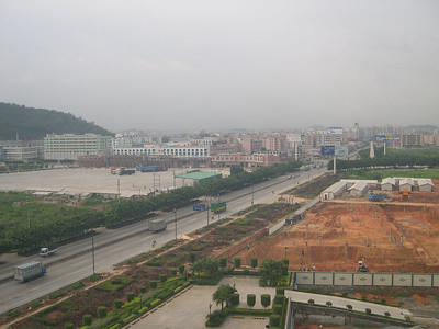 The view from the Haiyatt Garden Hotel in ChangAn