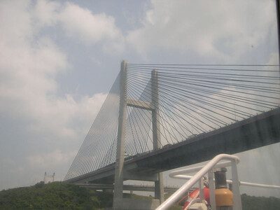 Bridge in Hong Kong spanning the Pearl River