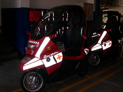 But the City EMT's get BMW scooters with a cab.