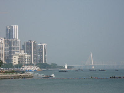 The bridge from SheKou to Hong Kong