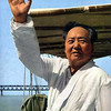 Mao Zedong (1893-1976) swam the Yangtze at Wuhan in 1966.