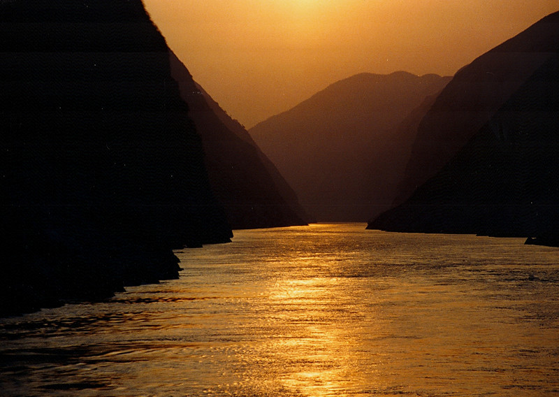 Up the Yangtze River through the Three Gorges, before the dam.