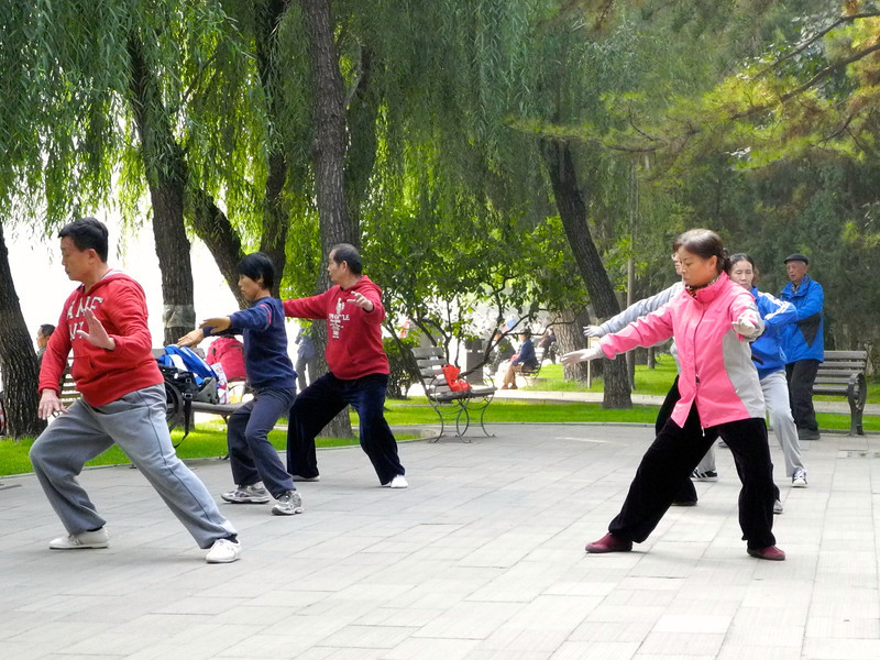 Tai Chi done in most parks daily