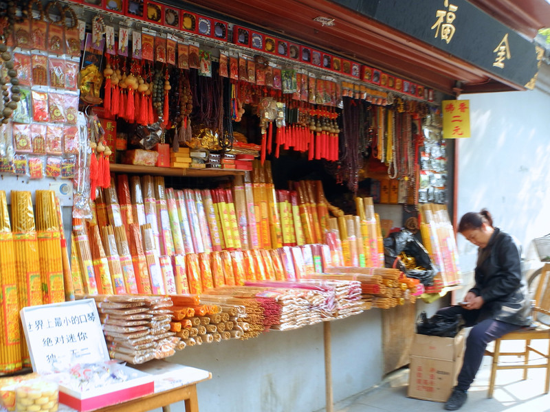Outside very temple, incense is available in quantity.