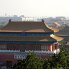 The view here overlooks the Forbidden City.