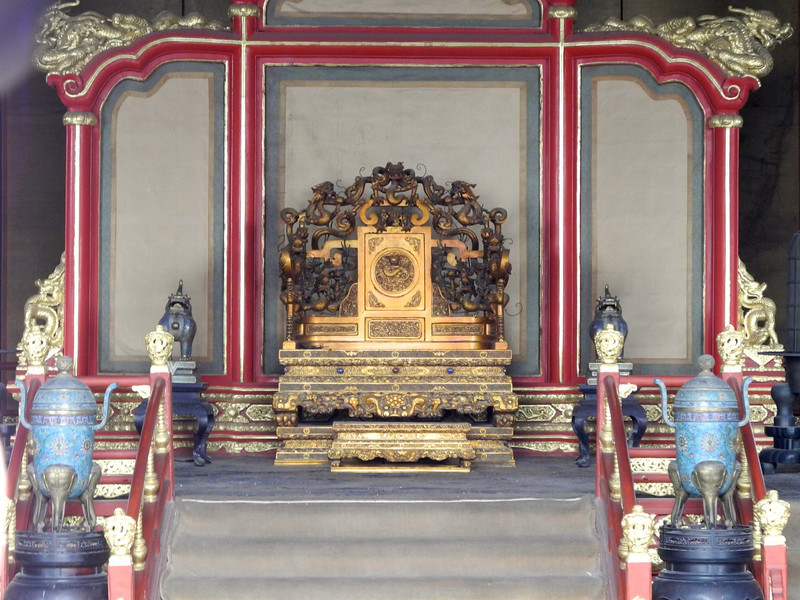 One of 3 thrones for the emperor
