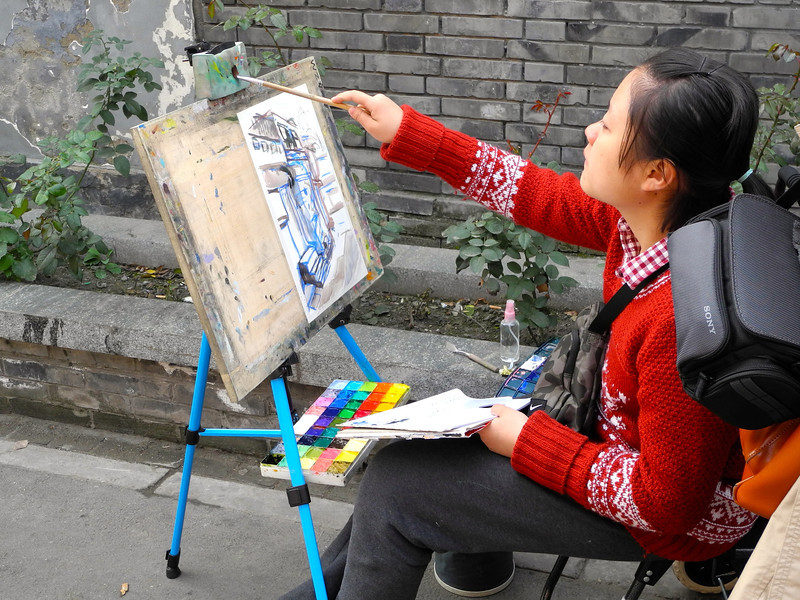 Street artist.