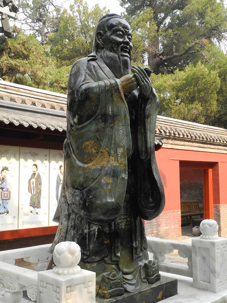 9 ft jade statue of confucius